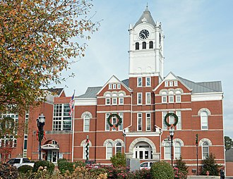 National Register of Historic Places listings in Henry County, Georgia - Image: Henry County Courthouse, Mc Donough, GA, US