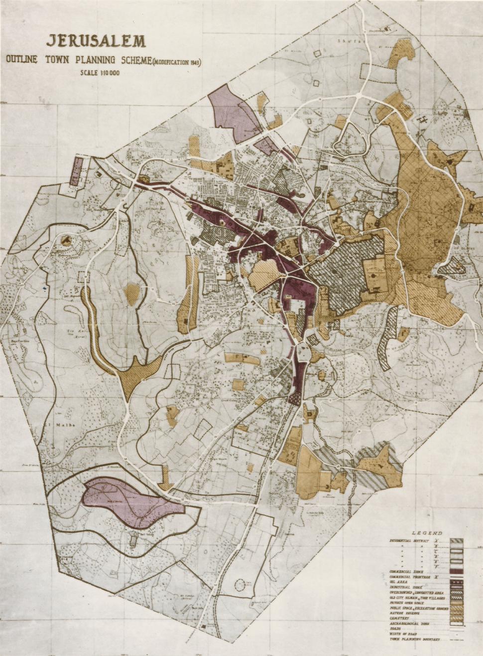 Henry Kendall plan for Jerusalem 1944