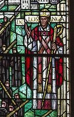 Stained glass window depicting Herbert de Losinga