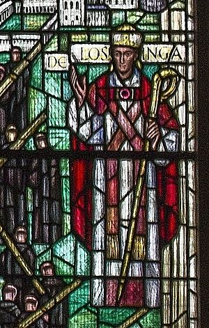Norwich School (independent school) - Stained-glass depiction of Herbert de Losinga in Norwich Cathedral