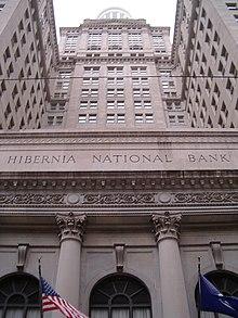 Hibernia National Bank...M Company Logo