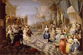 Hieronymus Janssens - Ball on the terrace of a palace
