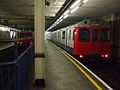 High Street Kensington stn D Stock in bays.JPG