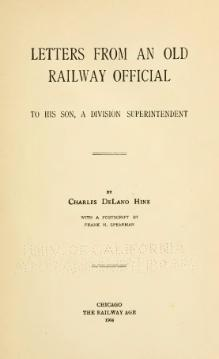 Hine (1904) Letters from an old railway official.djvu