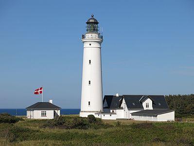 Lighthouse near Hirtshals on the Danish North Sea coast
