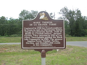Creston, Louisiana - Historical marker of Black Lake community at Creston