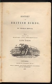 A History of British Birds cover