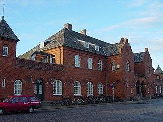 railway station in Holstebro Municipality, Denmark