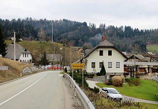 Hotavlje Place in Upper Carniola, Slovenia