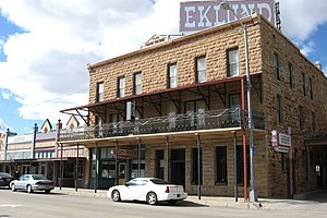 National Register of Historic Places listings in Union County, New Mexico - Image: Hotel Eklund Clayton New Mexico