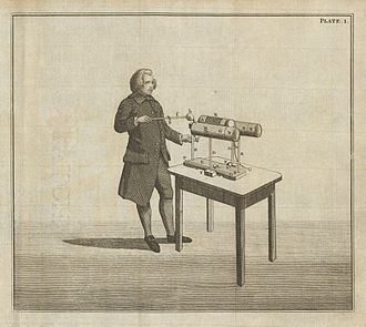 Edward Nairne - Edward Nairne and his electrical machine, 1783