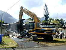 باکت بیل مکانیکی باکت بیل مکانیکی 220px House Demolition