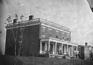 Varina, Virginia - Image: House of A.M. Aiken (on James River, VA, near Aiken's Landing (Varina). This is the river front view.)(Text in... NARA 529252