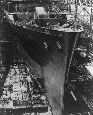 SS America (1939) - SS America under construction