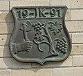 Hustopeče, znak na domu na Mrštíkově 107.JPG