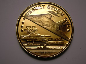 Principality of Hutt River - A 1991 20 dollar coin was part of a series commemorating Operation Desert Storm
