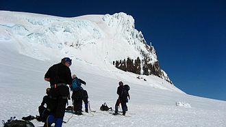 Vatnajökull National Park - Hikers journey to Hvannadalshnjúkur, the high peak of Öræfajökull.