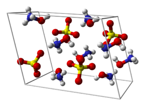 Hydroxylammonium sulfate - Image: Hydroxylammonium sulfate unit cell 3D balls