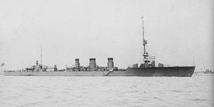 "USS Albacore (SS-218) - IJN ""Tenryu"" in Yokosuka 1925."