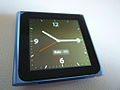 IPod Nano 6G Blue in Clock Mode.jpg