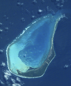 Satellite photo of Minicoy