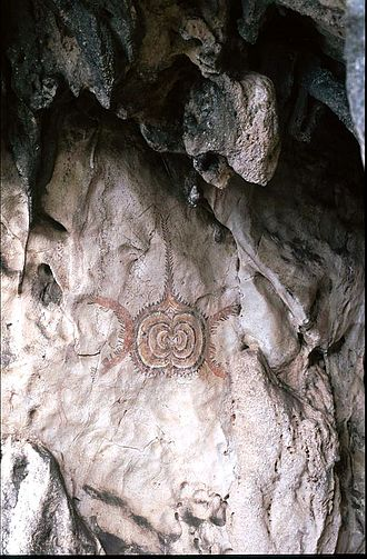 Tutuala - Rock painting in Ile Kére Kére