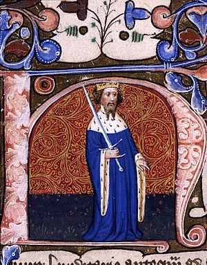 Thomas Prestbury - Illumination showing Henry IV.