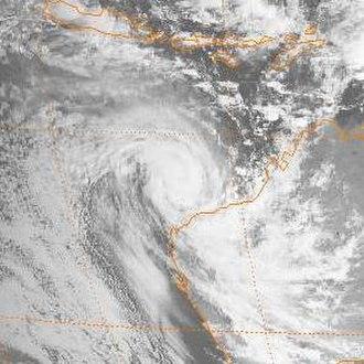 1988–89 Australian region cyclone season - Image: Ilona 1988 12 17 0000z