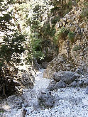 Imbros Gorge - Image: Imbros gorge (Crete)