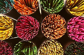 Incense in India - Incense being sold in a market in Bangalore
