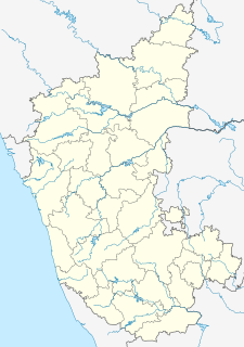 Map showing the location of Bannerghatta Biological Park