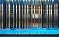 Intégration Roodebeek by Luc Peire in metro Roodebeek, blue transition (Woluwe-Saint-Lambert, Belgium).jpg