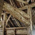 Interieur schuur, detail van sporenkapconstructie, gaffelvormige constructie - Coevorden - 20372087 - RCE.jpg