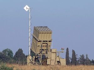 "March 2012 Gaza–Israel clashes - The ""Iron Dome"" anti-missile system. As of March 11, over a hundred rockets were fired on Israel in three days. More than thirty rockets were intercepted as of March 11, only those that were heading towards population centres."