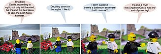 Photo comics - David Morgan-Mar's Irregular Webcomic! consists of photographs of Lego figures.