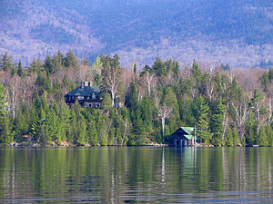 Lake Placid (New York) - Image: Island House on Lake Placid
