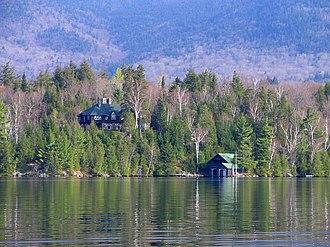 Lake Placid (New York) - Image: Island House on Lake Placid