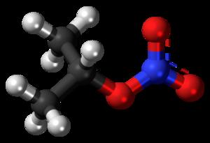 Isopropyl nitrate - Image: Isopropyl nitrate 3D ball