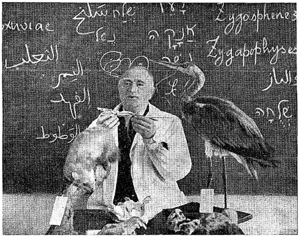 Israel Aharoni during a lecture
