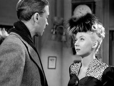 It's a Wonderful Life (film) 1946 Frank Capra, director L to R James Stewart, Gloria Grahame