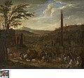 Italianiserend landschap met markttafereel, circa 1680, Groeningemuseum, 0040413001.jpg