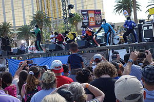 Jabbawockeez - The group performing for a crowd in Las Vegas