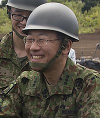 JGSDF Lieutenant General Masato Taura 田浦正人陸将 (US Marine Corps photo 170825-M-NP551-0295 U.S. Marines greet Japanese Ground Self-Defense Force).jpg
