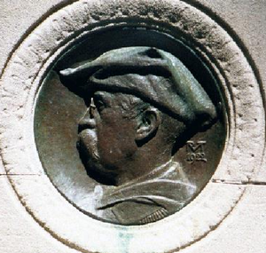 J. William White - White –  1922, bas-relief bust by R. Tait McKenzie, Rittenhouse Square