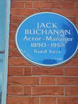 Photo of Jack Buchanan blue plaque