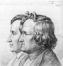 die brder grimm 1843 portrt von ludwig emil grimm - Gebrder Grimm Lebenslauf