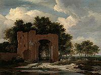 Jacob van Ruisdael - A ruined Castle gateway, possibly the Archway of Huis Ter Kleef.jpg