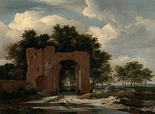 Ruins of the gate of Huis ter Kleef near Haarlem