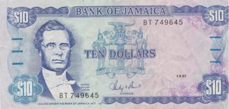 George William Gordon - George Gordon on the Jamaican ten-dollar note