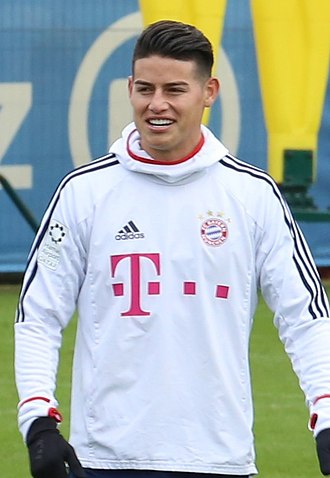 James Rodríguez - James Rodríguez training with Bayern Munich in 2018
